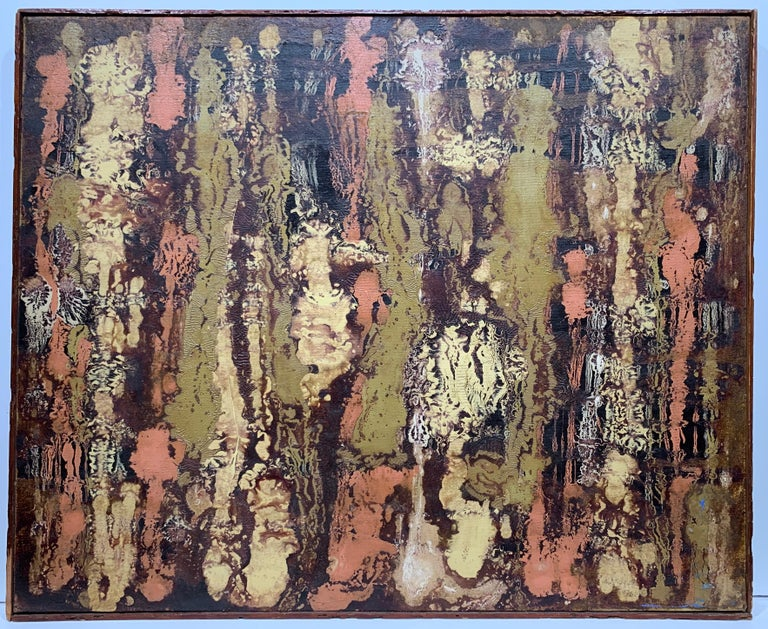 Unknown Abstract Painting - Abstract Expressionist mi-century modern painting