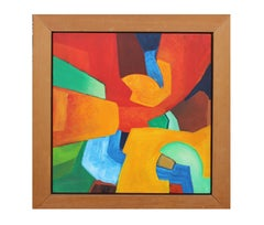 Abstract Expressionist Painting in the Style of Hans Hofmann