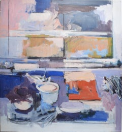 Abstract Expressionist Still Life Oil Painting