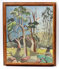 Abstract Florida Modernist Tree American Vibrant Colors 1940's