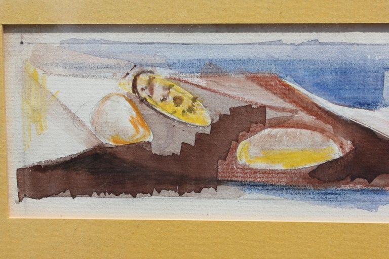 Abstract Painting of Shells - Brown Still-Life Painting by Unknown