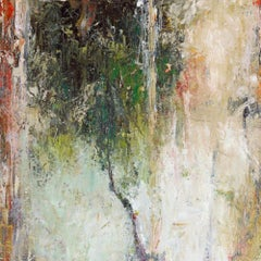 ABSTRACT TREE, Modern Abstract Fine Art Gallery Wrapped on Giclee Canvas 30 x 30