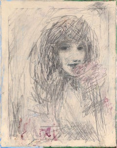 Abstracted Portrait of a Girl with a Flower