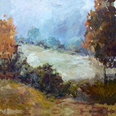 ACROSS THE WAY, Contemporary Landscape Fine Art Gallery Wrapped on Giclee Canvas