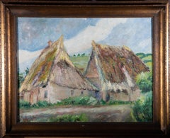 Adolf Fehr (1886-1964) - Mid 20th Century Oil, Alpine Cottages