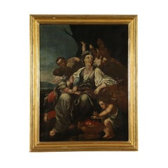 Allegory of Winter Oil Painting French School 18th Century