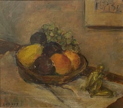 American School Table Top Still Life, signed Lerner, dated 1951
