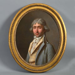 An 18th Century Oval Portrait of a Gentleman