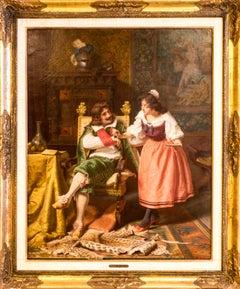 An Interior Scene, Oil on Canvas, 19th century