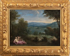 An Old Master landscape with Venus and Cupid in the foreground