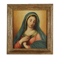 Announced Virgin Mary Oil on Board about 1830, Italian Painting