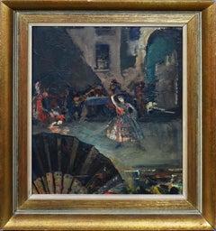 Antique American Impressionist Ashcan School Flamenco Dancer Spain Oil Painting