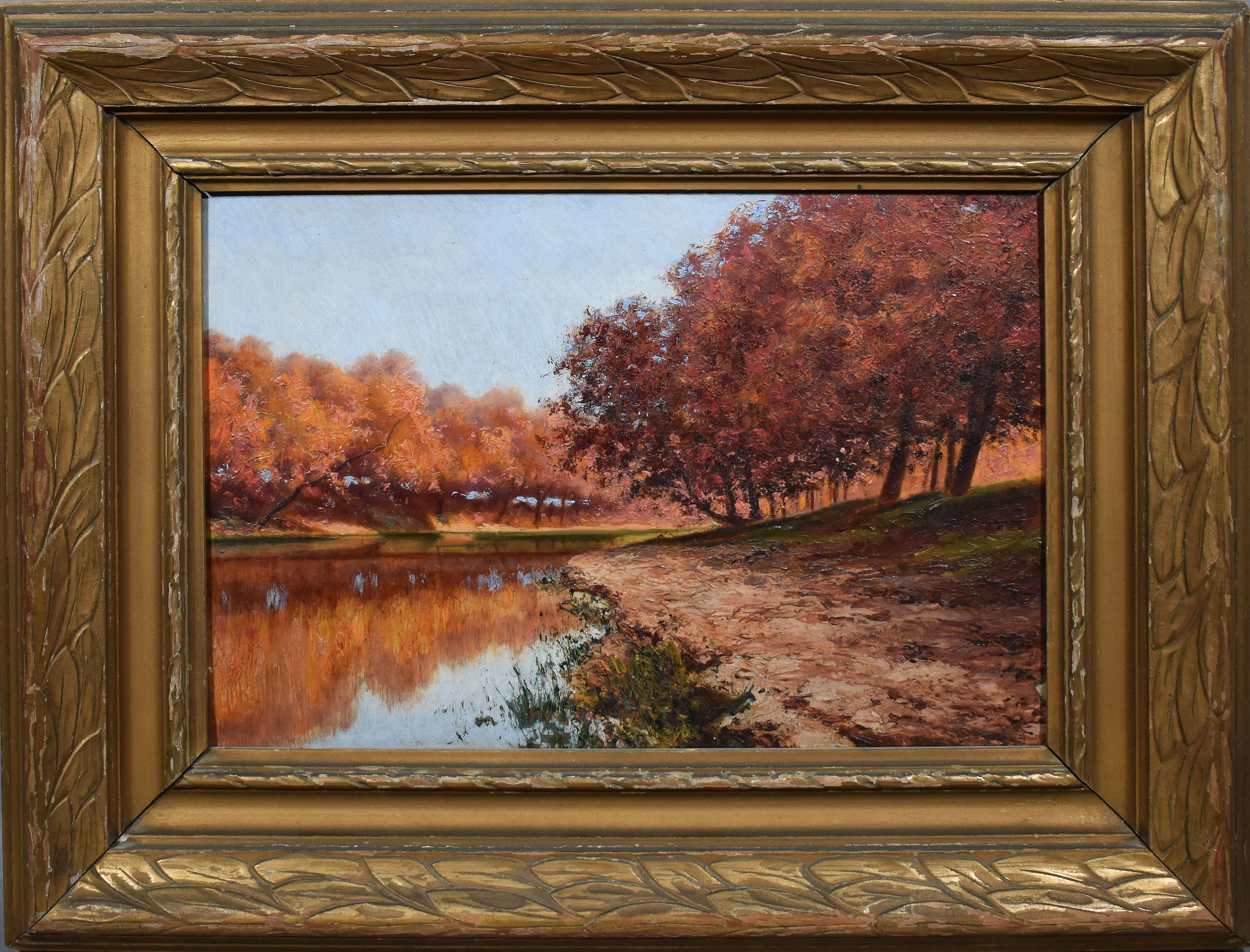Antique American Impressionist Fall River Finely Painted Gem Quality Masterpiece