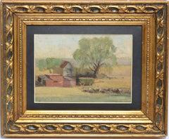 Antique American Impressionist Plein Aire Landscape Oil Painting