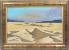Antique American School Desert Beach Dune Western American Original Oil Painting