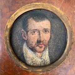 Antique Flemish Portrait of a Young Man