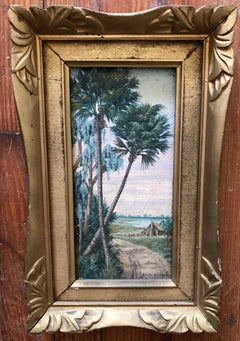 Antique Florida or Old South Painting