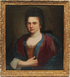 Antique French Old Master Royalty Formal Portrait Original Oil Painting