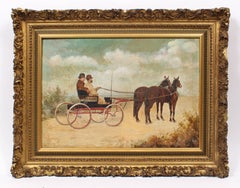 Antique Horse Cart Painting