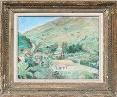 Antique Southern France Provençal Impressionist Summer Landscape Oil Painting