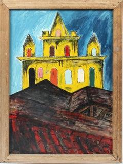 Antique Southern School American Modernist Regional Original Oil Painting