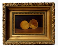 Antique Still Life of Golden Peaches Signed on Reverse Sullivan
