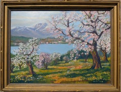 Apple Trees in Bloom Landscape