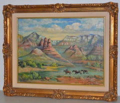 "Arizona Western Landscape ""Near Flagstaff"" Oil Painting by Francoise"