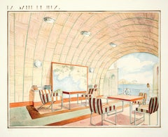Art Deco Game Room Nautical Painting