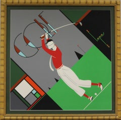 """Art Deco Golfer"""
