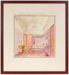 Art Deco Women's Bathroom Painting