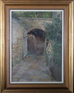 Attrib. Eduardo Matania (1847-1929) - Late 19th Century Oil, Garden Gate