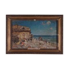 Attributed To Baldomero Galofre Oil On Panel 19th Century