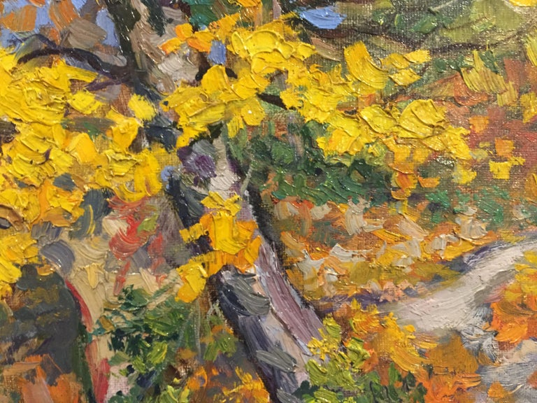 Autumn Splendor - Brown Landscape Painting by Unknown