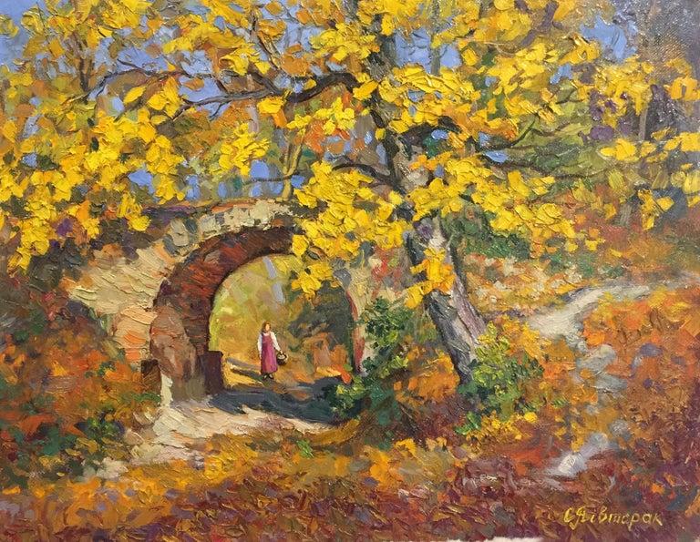 Unknown Landscape Painting - Autumn Splendor