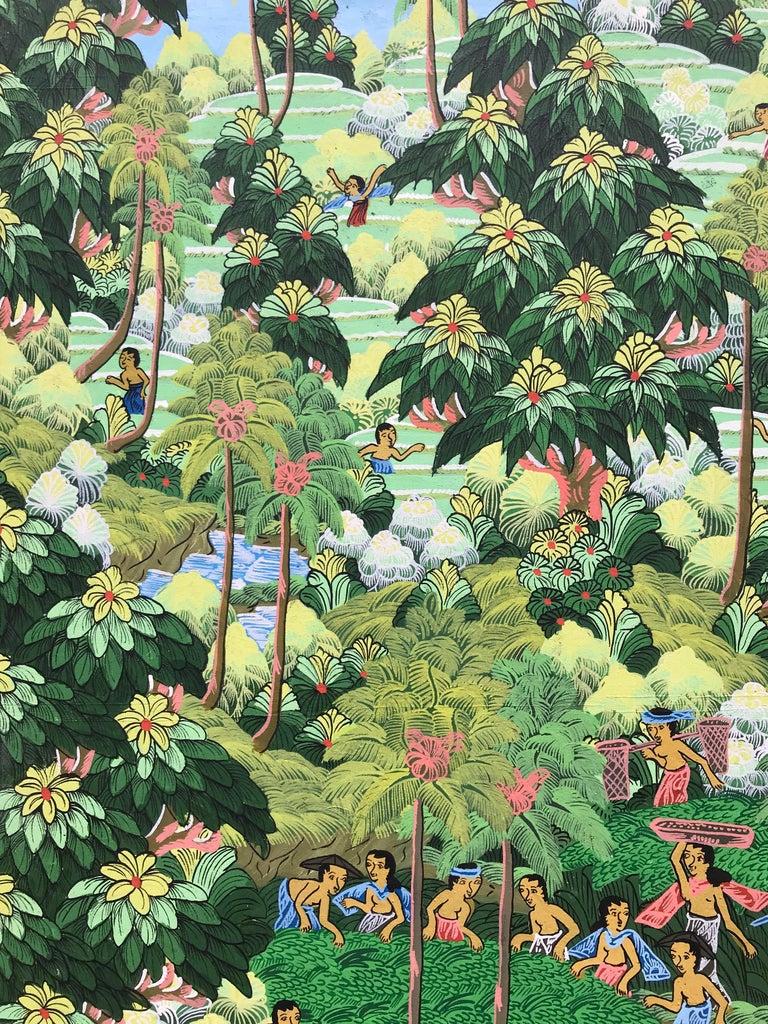 """""""Balinese Figural Landscape 1"""" For Sale 1"""