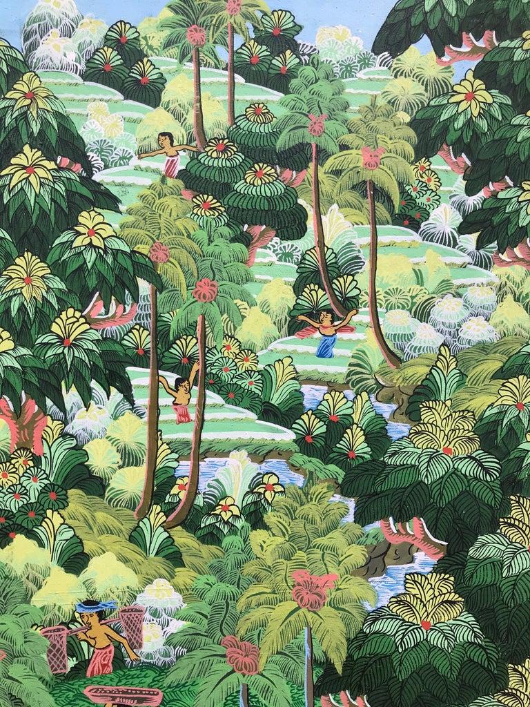 """""""Balinese Figural Landscape 1"""" For Sale 2"""