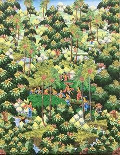 """""""Balinese Figural Landscape 1"""""""