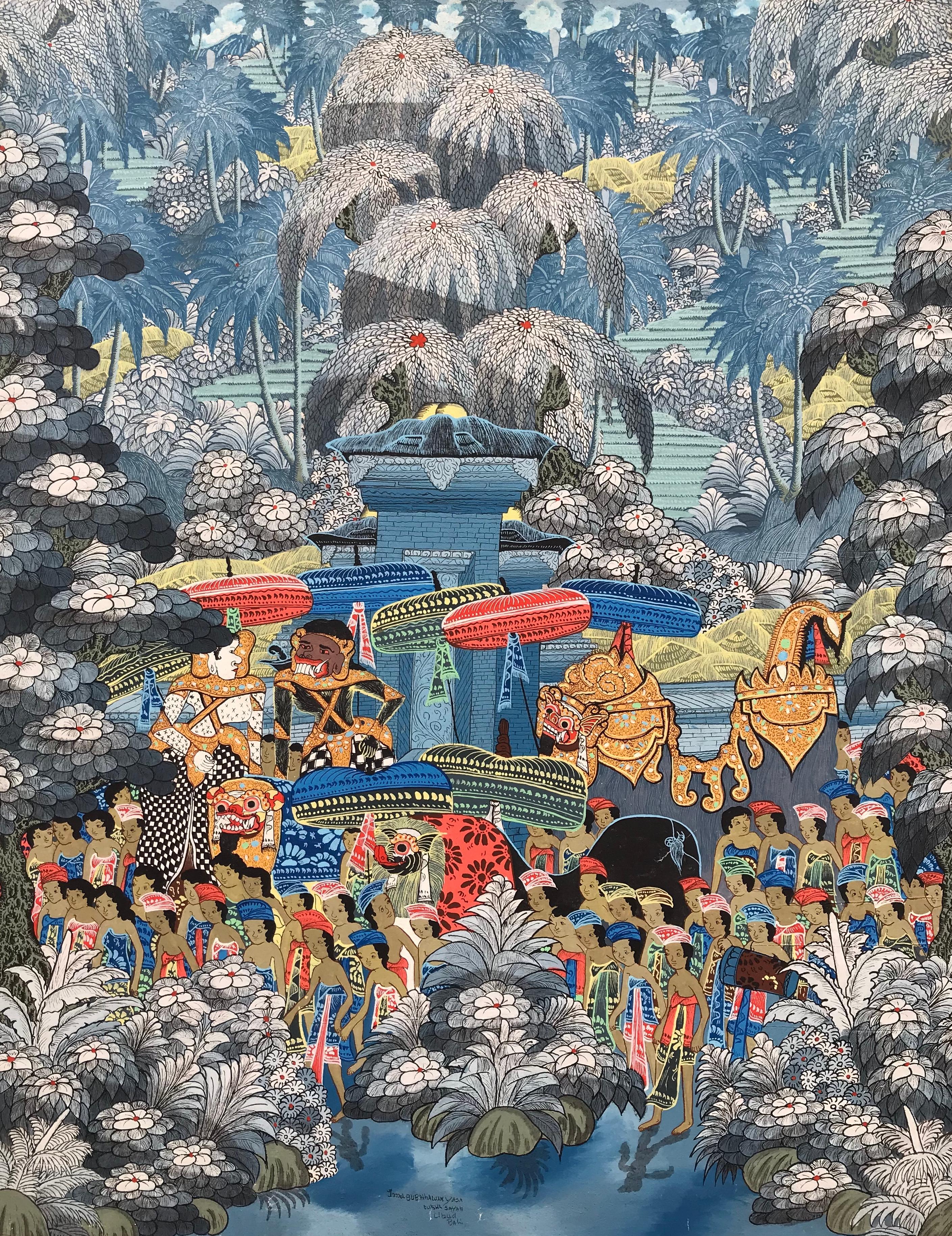 """""""Balinese Figural Landscape 2"""""""