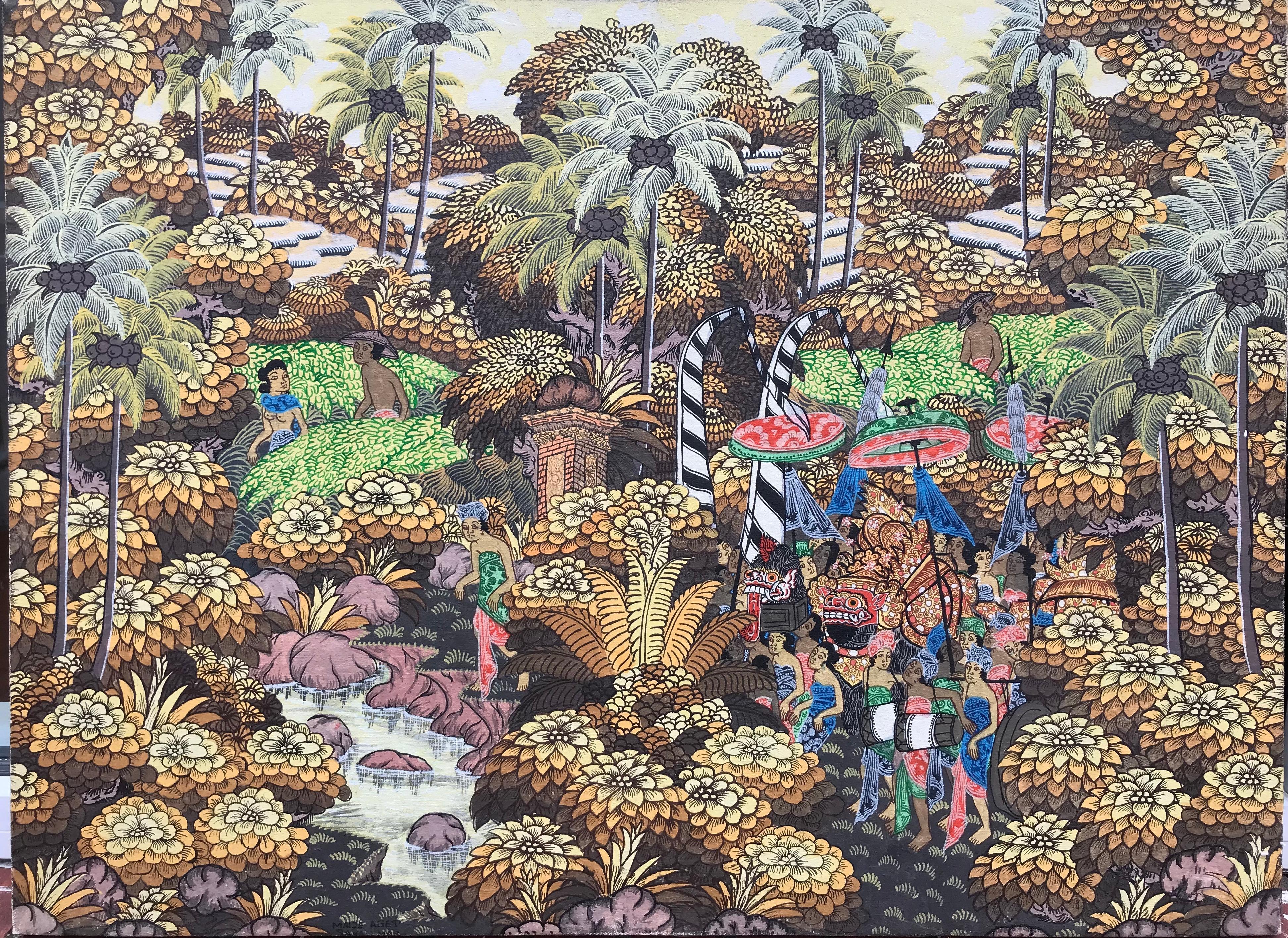 """""""Balinese Figural Landscape 3"""""""
