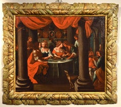 Banquet Flemish Italian Paint Oil on canvas Old master 17th Century Veronese Art