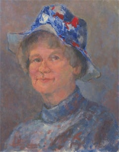 Barbara Doyle (b.1917) - 1977 Oil, Barbara's Jubilee Hat