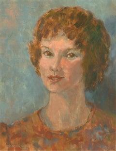 Barbara Doyle (b.1917) - 1978 Oil, Portrait of a Girl