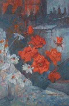 Barbara Doyle (b.1917) - 1990 Oil, Clapham Roses