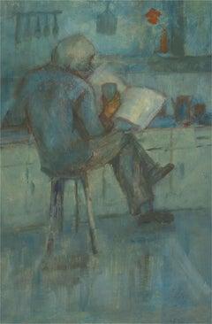 Barbara Doyle (b.1917) - 20th Century Oil, Gentleman Reading