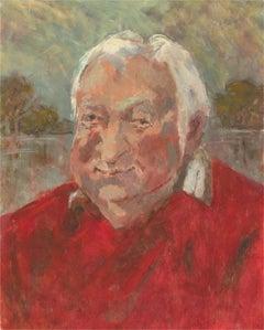 Barbara Doyle (b.1917) - Contemporary Oil, Big Red Man