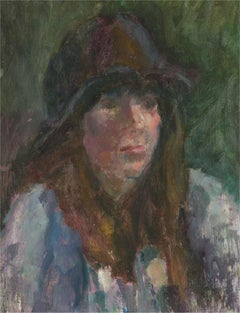 Barbara Doyle (b.1917) - Contemporary Oil, Double Sided Portrait, Young Woman