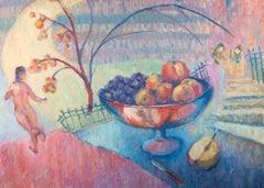 Barbara Doyle (b.1917) - Contemporary Oil, Garden with Fruit