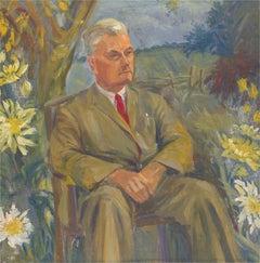 Barbara Doyle (b.1917) - Contemporary Oil, Gentleman Among The Daisies