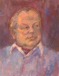 Barbara Doyle (b.1917) - Contemporary Oil, Gentleman in Purple